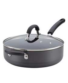 Circulon Hard-Anodized Nonstick Covered 4-Qt. Saute Pan with Helper Handle