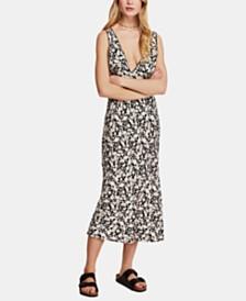 Free People Ohh La La Printed Midi Dress