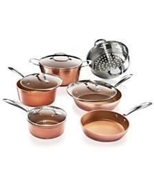 Gotham Steel Hammered Copper 10-Pc. Cookware Set