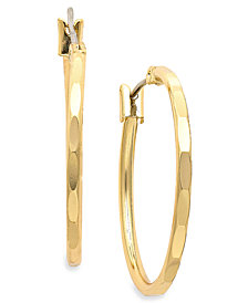 Charter Club Gold-Tone Hoop Earrings