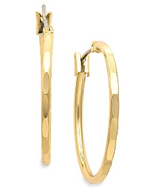 Charter Club Gold-Tone Hoop Earrings