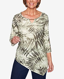 Lake Tahoe Printed Asymmetrical Top