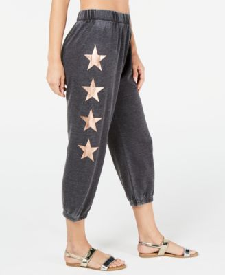 Juniors' Burnout Star Jogger Cover-Up Pants, Created for Macy's