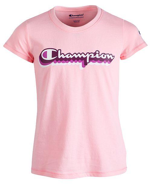 Champion Big Girls Retro Logo-Print T-Shirt