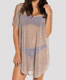 Jordan Taylor Scota Cold Shoulder Tunic Cover Up