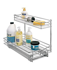 Lynk Professional Sink Cabinet Organizer with Pull Out 2 Tier Sliding Shelf