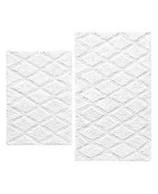 Tufted Diamond Reversible 2-Pc. Bath Rug Set