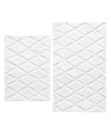 Vera Wang Tufted Diamond Reversible 2-Pc. Bath Rug Set