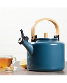 Ayesha Collection Enamel on Steel Twilight Teal Whistling 2-Qt. Teakettle