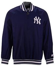 Starter Men's New York Yankees Coop Home Game Half-Zip Pullover
