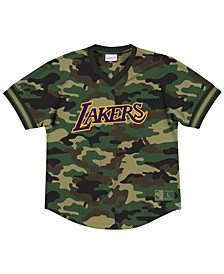 Men's Los Angeles Lakers Camo Mesh V-Neck Jersey Top