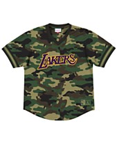 614a5cc6542 Mitchell   Ness Men s Los Angeles Lakers Camo Mesh V-Neck Jersey Top