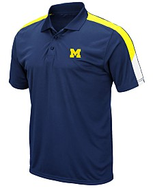 Colosseum Men's Michigan Wolverines Color Block Polo