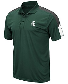 Colosseum Men's Michigan State Spartans Color Block Polo