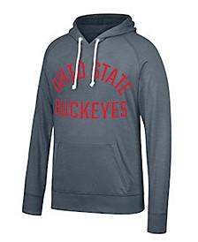 J America Men's Ohio State Buckeyes Tri-Blend Long Sleeve Hooded T-Shirt