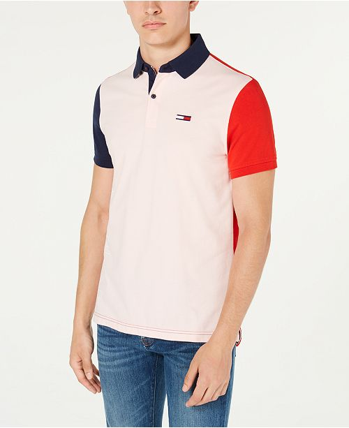 Tommy Hilfiger Men's Grant Custom-Fit Colorblocked Logo Polo