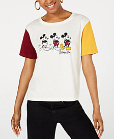 Disney Juniors' Mickey Mouse Colorblocked Graphic T-Shirt by Freeze 24-7