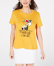 Warner Brothers Juniors' Looney Tunes Graphic T-Shirt by Freeze 24-7