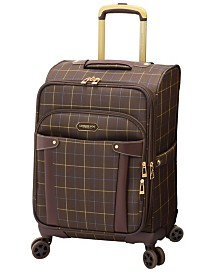"""London Fog Brentwood 20"""" Softside Carry-On Spinner Suitcase, Created for Macy's"""