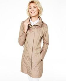 Cole Haan Packable Hooded Raincoat