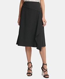 DKNY Ruffled Pinstripe Skirt