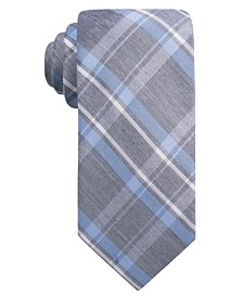 Ryan Seacrest Distinction™ Men's Bancroft Slim Plaid Tie, Created for Macy's