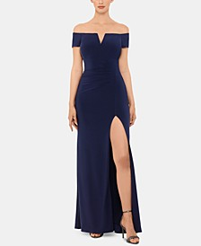 Off-The-Shoulder Gown