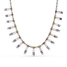 Women's Multi-Color Rhinestone Bar Necklace