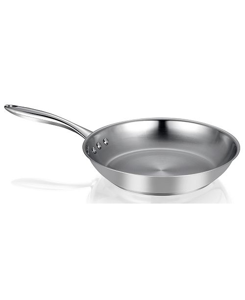 """Ozeri 12"""" Stainless Steel Earth Pan PTFE-Free Restaurant Edition"""