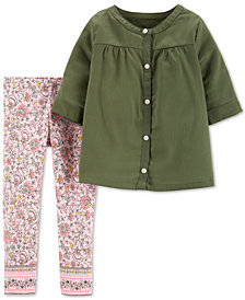 Carter's Baby Girls 2-Pc. Tunic & Floral-Print Leggings Set