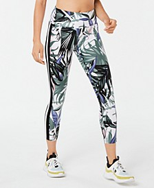 Printed Wide-Stripe Leggings