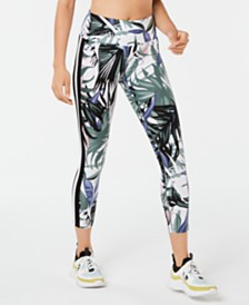 Calvin Klein Performance Printed Wide-Stripe Leggings