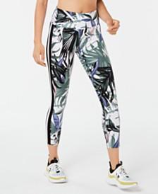 Calvin Klein Performance Printed Wide-Stripe Leggings