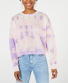 Say What? Juniors' Tie-Dye Long-Sleeve Shirt