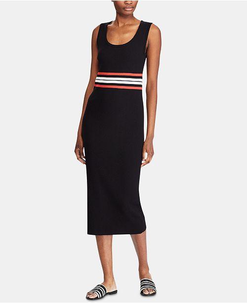 Lauren Ralph Lauren Petite Sleeveless Ribbed Midi Dress