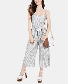 GUESS Dallas Striped Tie-Waist Jumpsuit