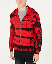 I.N.C. Men's Moto Tie-Dye Hoodie, Created for Macy's