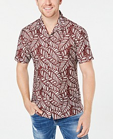 INC Men's Leaf Print Shirt, Created for Macy's