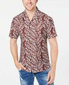 I.N.C. Men's Leaf Print Shirt, Created for Macy's