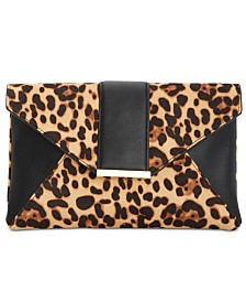 I.N.C. Luci Leopard Print Clutch, Created for Macy's