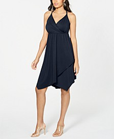 INC Solid Crisscross Ring Dress, Created for Macy's