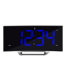"1.8"" Curved Blue LED Atomic Dual Alarm Clock"