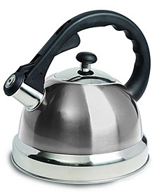 Mr. Coffee Claredale 1.7 Quart Stainless Steel Whistling Tea Kettle with Nylon Handle