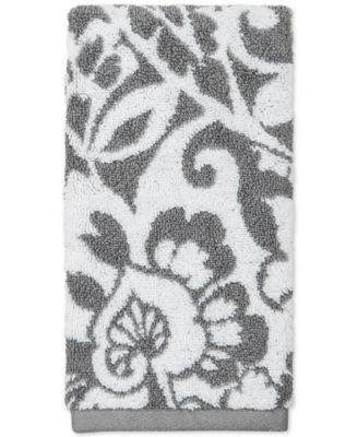 18 x 30 Elite Cotton Scroll Paisley Hand Towel, Created for Macy's