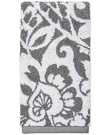 Elite Cotton Scroll Paisley Hand Towel, Created for Macy's