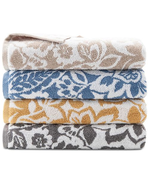 Charter Club Elite Cotton Scroll Paisley Bath Towel Collection, Created for Macy's