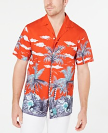 Lacoste Men's Palm-Tree Graphic Shirt