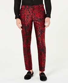 I.N.C. Men's Slim-Fit Animal Print Pants, Created for Macy's