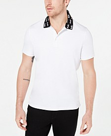 Men's Greenwich Intarsia Logo Collar Liquid Cotton Polo Shirt