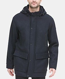 Men's Stadium Coat with Removable Hood, Created for Macy's